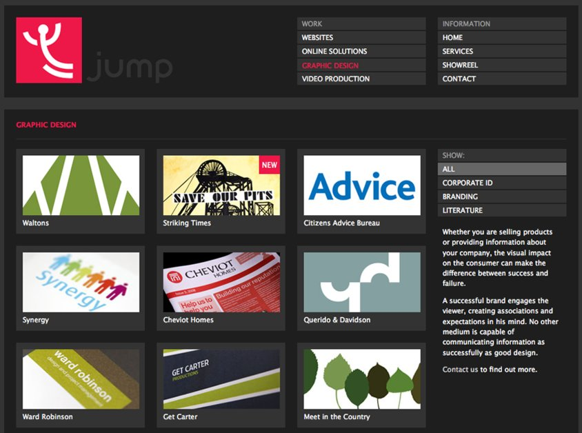 A great web design by JUMP, Newcastle, United Kingdom: