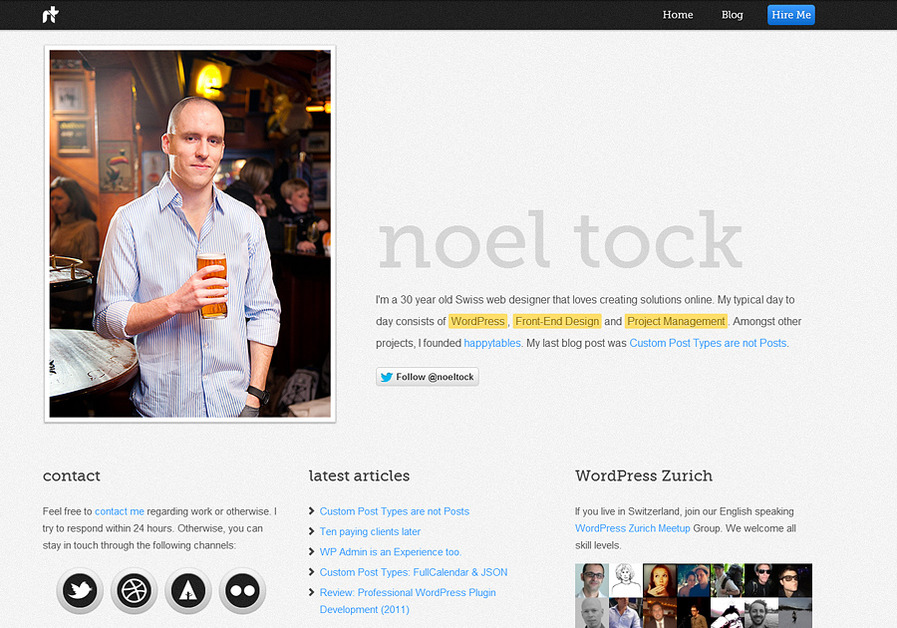 A great web design by Noel Tock, Zurich, Switzerland:
