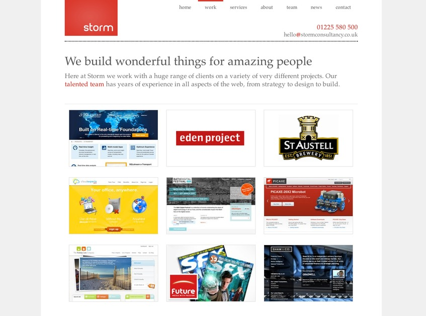 A great web design by Storm Consultancy, Bath, United Kingdom: