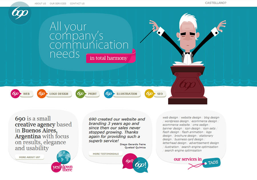 A great web design by 690, Buenos Aires, Argentina: