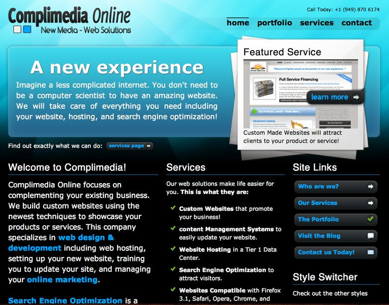 A great web design by Complimedia Online, Los Angeles, CA: