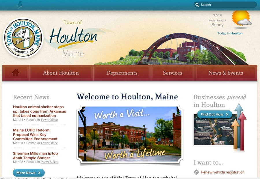 A great web design by RainStorm, Bangor, ME: