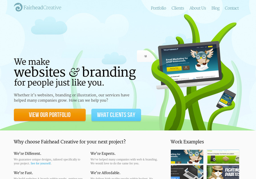 A great web design by Fairhead Creative, Clearwater, FL: