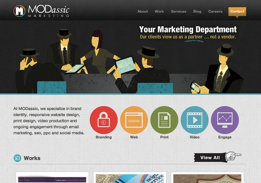 A great web design by MODassic Marketing, Dallas, TX: