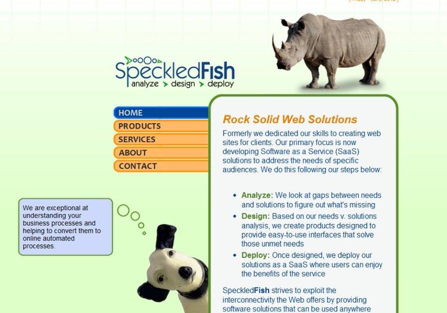 A great web design by SpeckledFish, Phoenix, AZ: