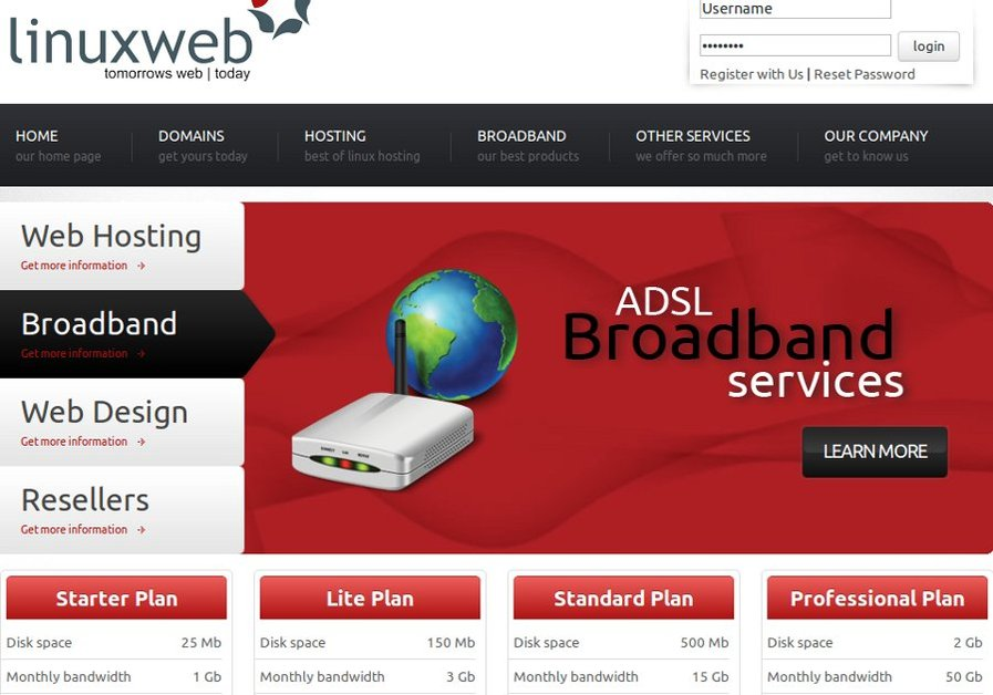 A great web design by Linuxweb, Pretoria, South Africa: