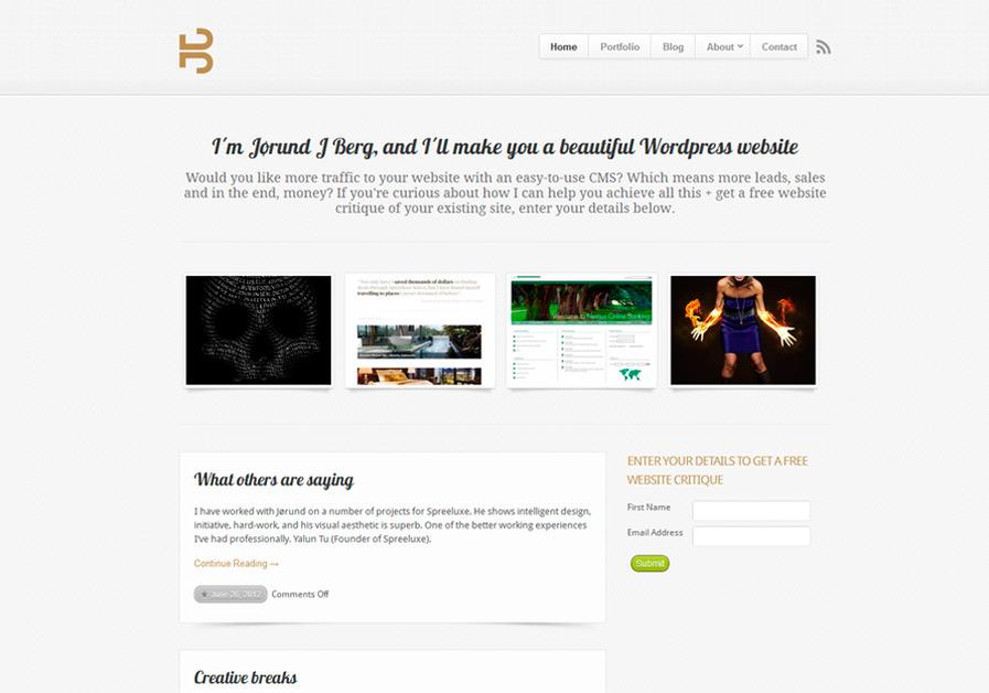A great web design by JJBerg Design, Stavanger, Norway: