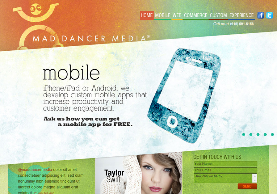 A great web design by Mad Dancer Media, Nashville, TN: