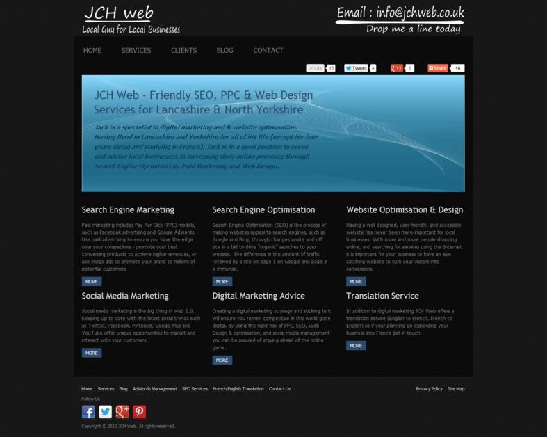 A great web design by JCH Web, Lancashire, United Kingdom: