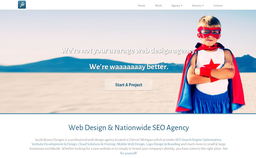 A great web design by Jacob Brown Designs, Detroit, MI:
