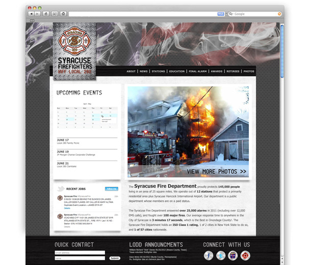 A great web design by  the R studio, Syracuse, NY: