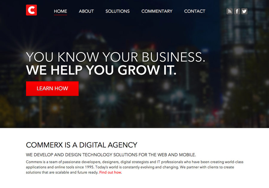 A great web design by Commerx, Calgary, Canada: