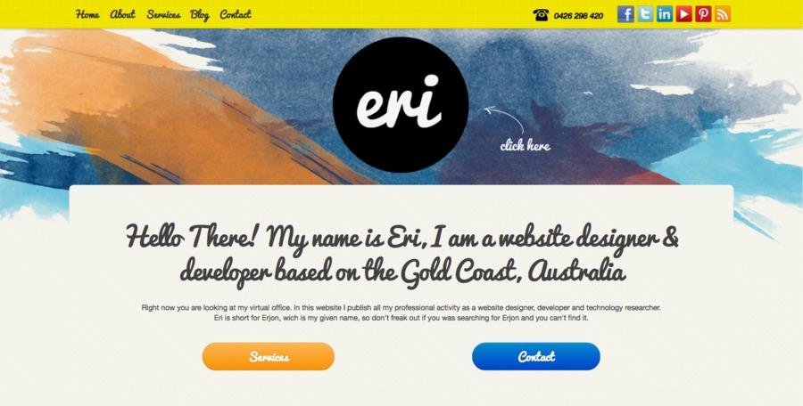 A great web design by Eri Designs, Brisbane, Australia: