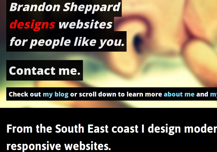 A great web design by Brandon Sheppard, Brisbane, Australia: