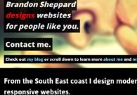 A great web design by Brandon Sheppard, Brisbane, Australia: