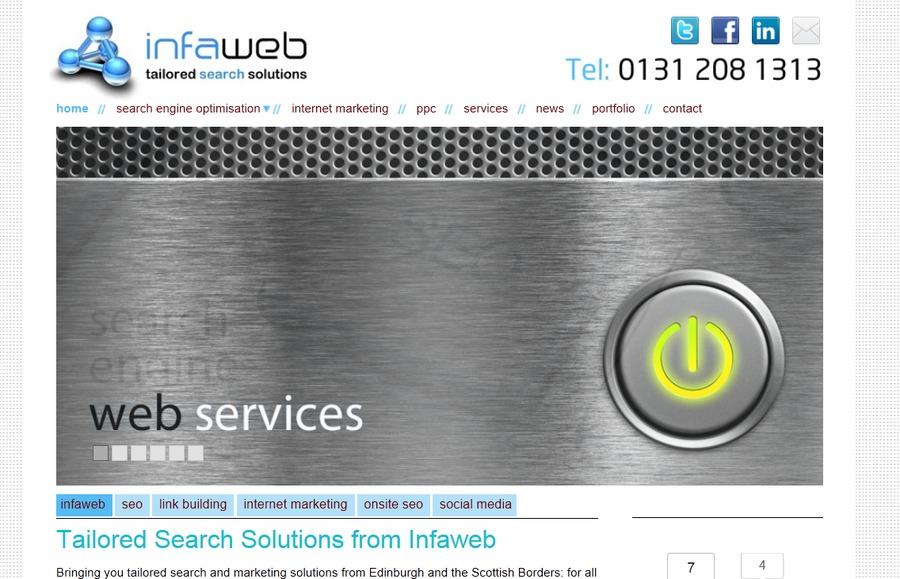 A great web design by Infaweb, Edinburgh, United Kingdom: