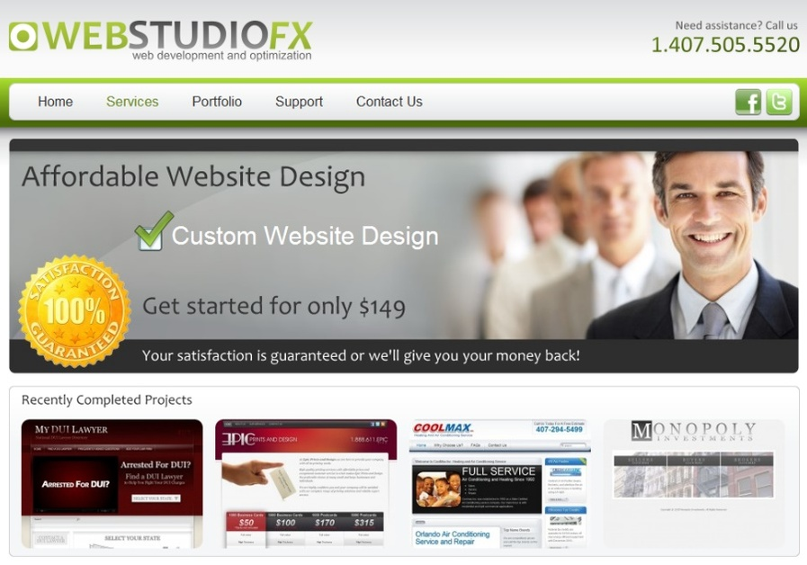 A great web design by WebStudioFX, Orlando, FL: