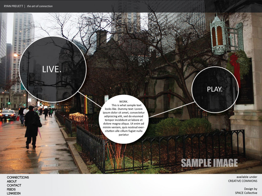 A great web design by SPACE Collective, Chicago, IL:
