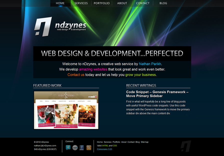 A great web design by nDzynes, Chicago, IL: Website, Portfolio , Technology , Wordpress