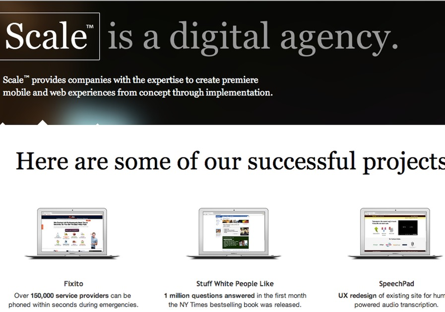 A great web design by Scale, Los Angeles, CA:
