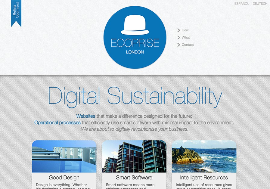 A great web design by Ecoprise, London, United Kingdom: