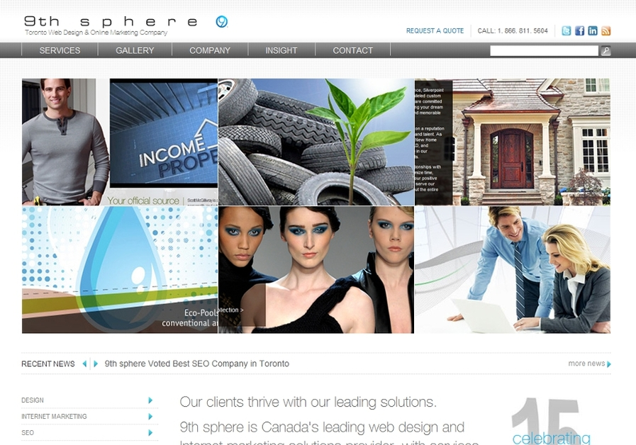 A great web design by 9th sphere, Toronto, Canada: