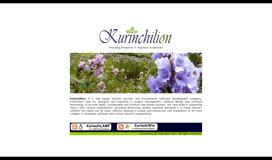 A great web design by Kurinchilion Inc., Toronto, Canada: