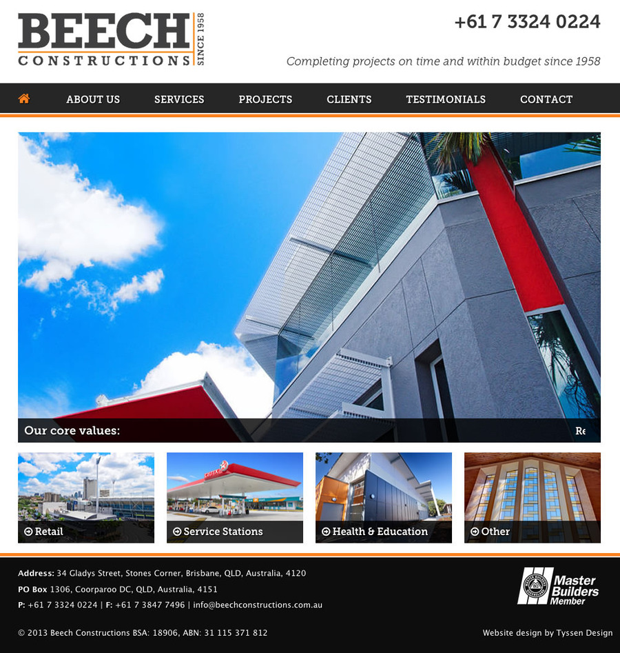 A great web design by Tyssen Design, Brisbane, Australia: