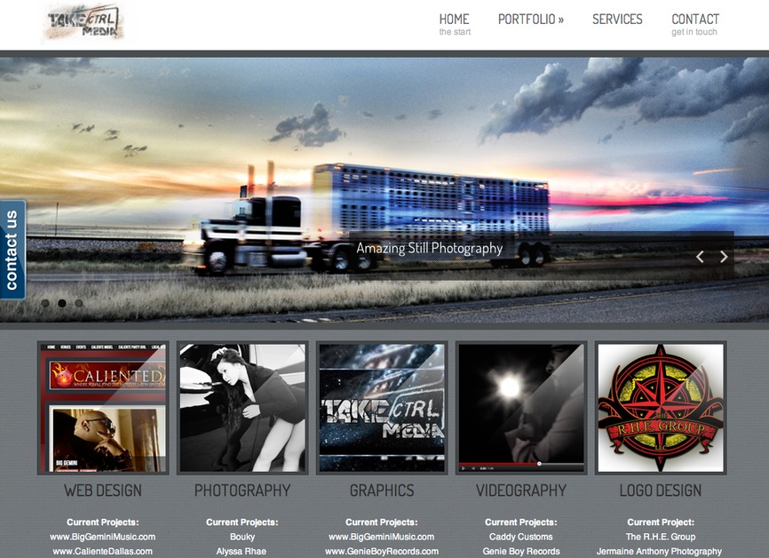 A great web design by TakeCtrl Media, Dallas, TX: