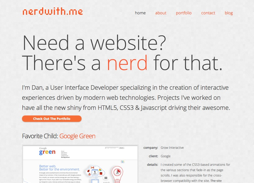 A great web design by nerdwithus llc., Denver, CO:
