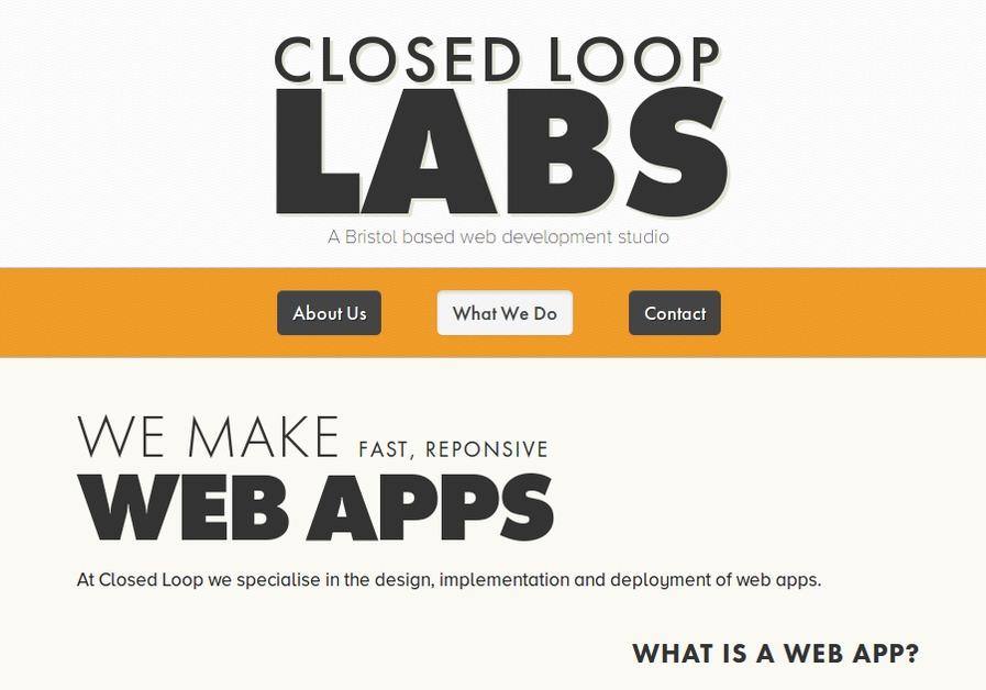 A great web design by Closed Loop Labs, Bristol, United Kingdom: