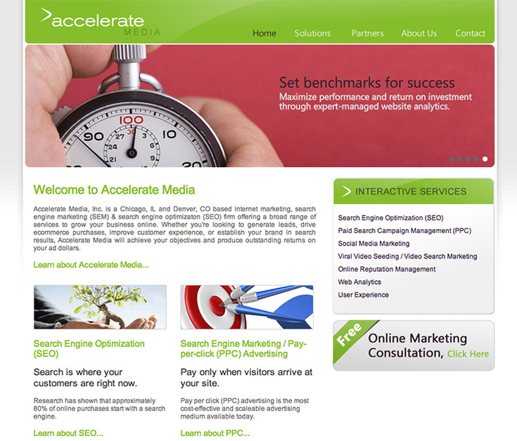 A great web design by Accelerate Media, Denver, CO: