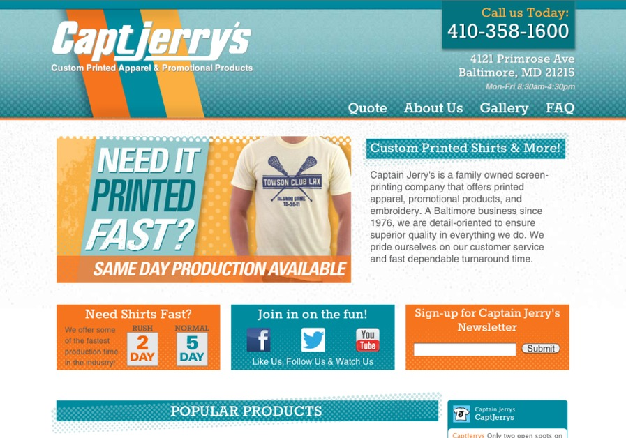 A great web design by Undertow Creative LLC, Baltimore, MD: