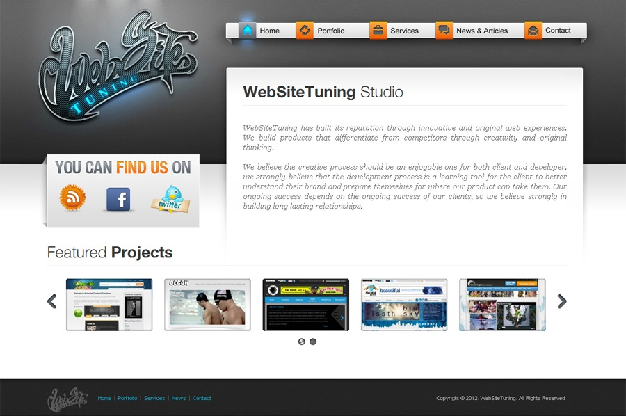 A great web design by WebSiteTuning, Nikolaev, Ukraine: