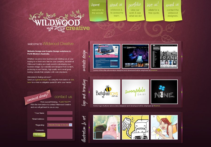 A great web design by Wildwood Creative, Perth, Australia: