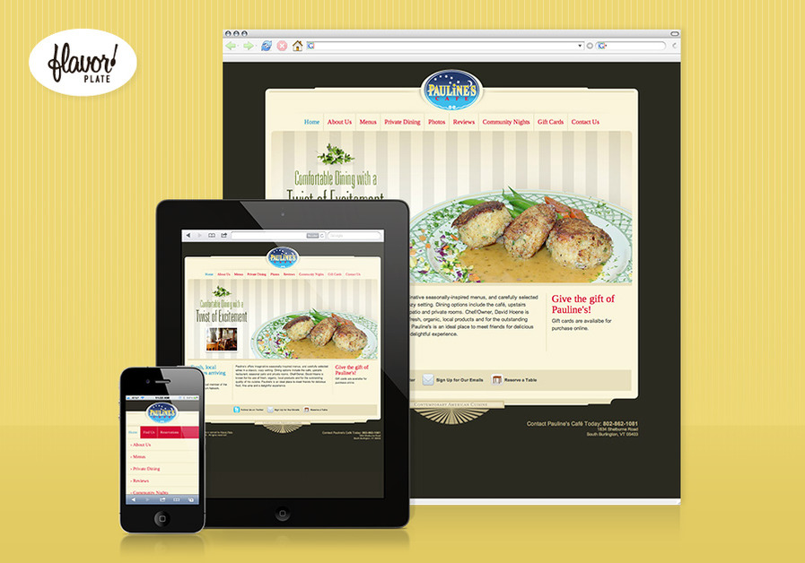A great web design by Flavor Plate, Burlington, VT: