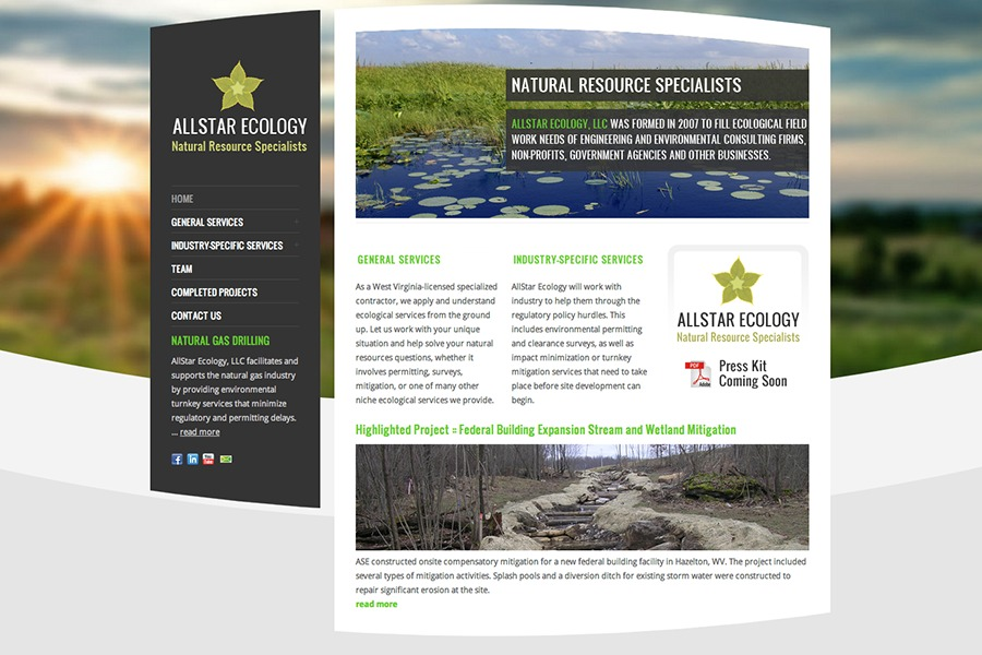 A great web design by FolioType Creative, Morgantown, WV:
