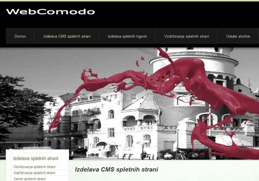 A great web design by WebComodo, Celje, Slovenia: