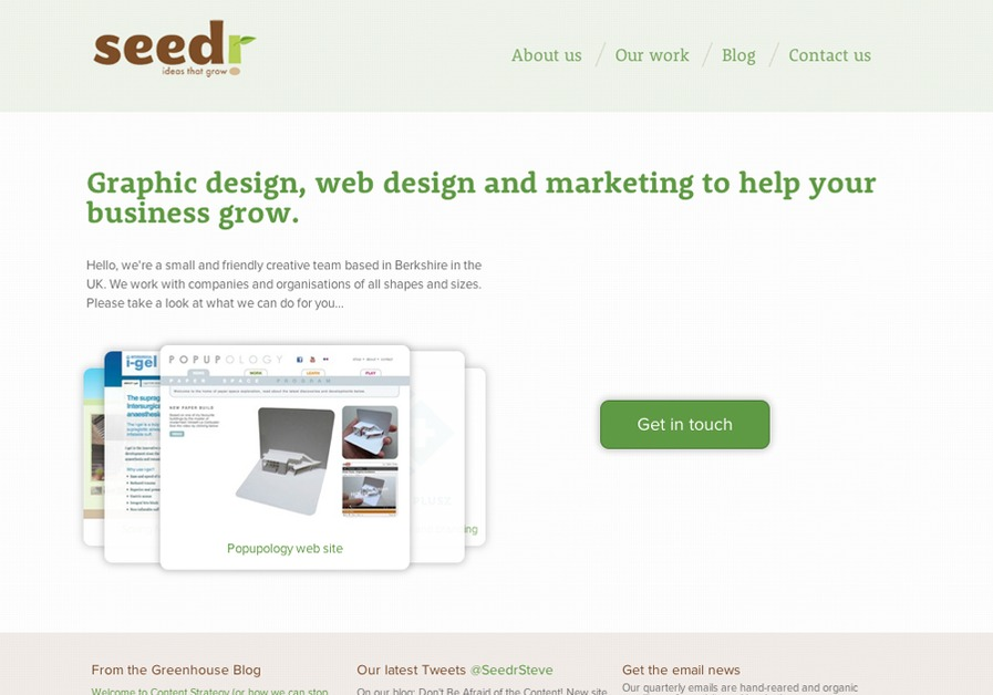 A great web design by Seedr Creative, Reading, United Kingdom: