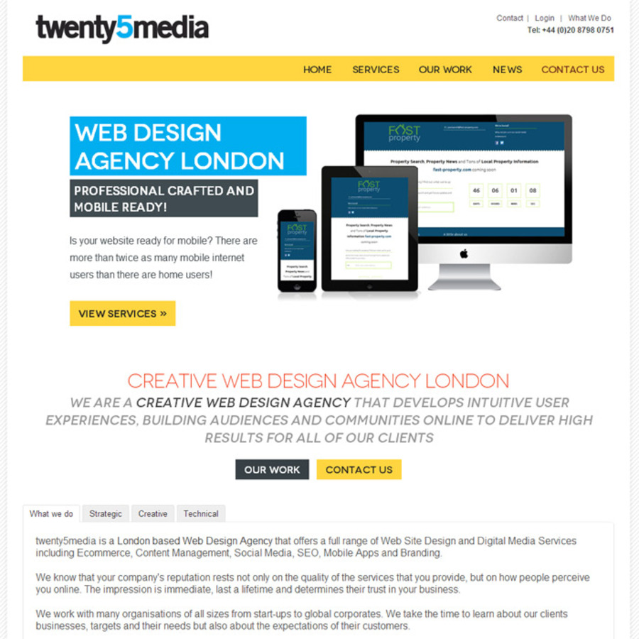A great web design by twenty5media, London, United Kingdom: Other, Other, Marketing , PHP
