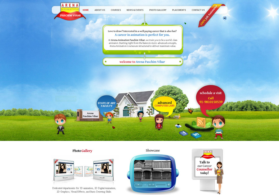 A great web design by StudioScoops, New Delhi, India: