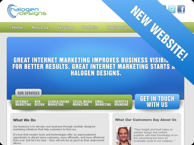 A great web design by Halogen Designs Internet Marketing, Indianapolis, IN: