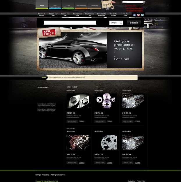 A great web design by Eight Webcom Pvt. ltd., Ahmedabad, India: