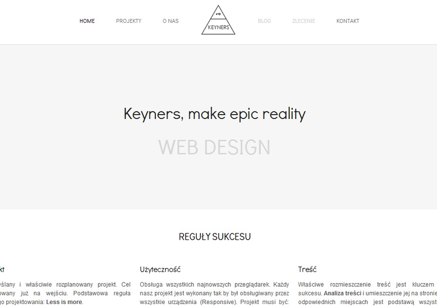 A great web design by Keyners, Lodz Poland, Poland: