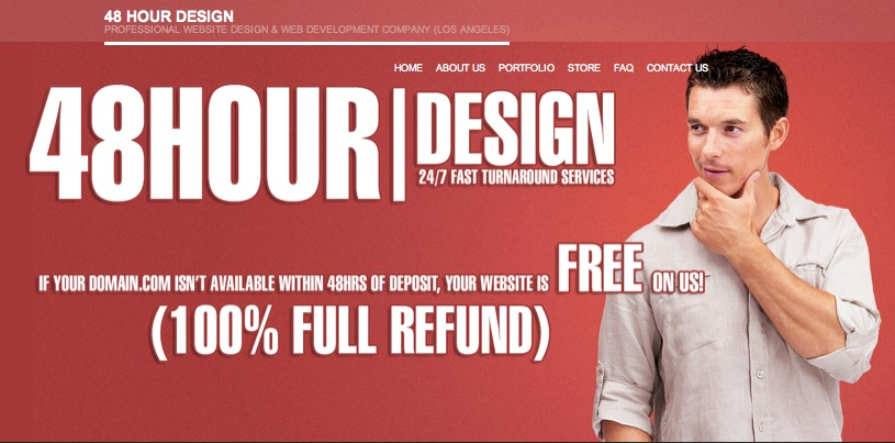 A great web design by 48HR Design, Los Angeles, CA: