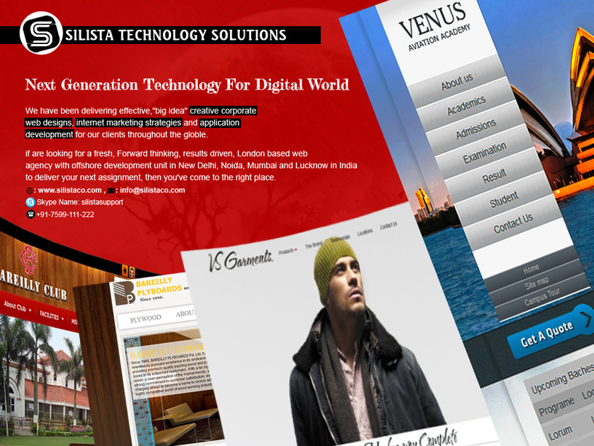 A great web design by Silista Technology Solutions (P) Ltd, New Delhi, India:
