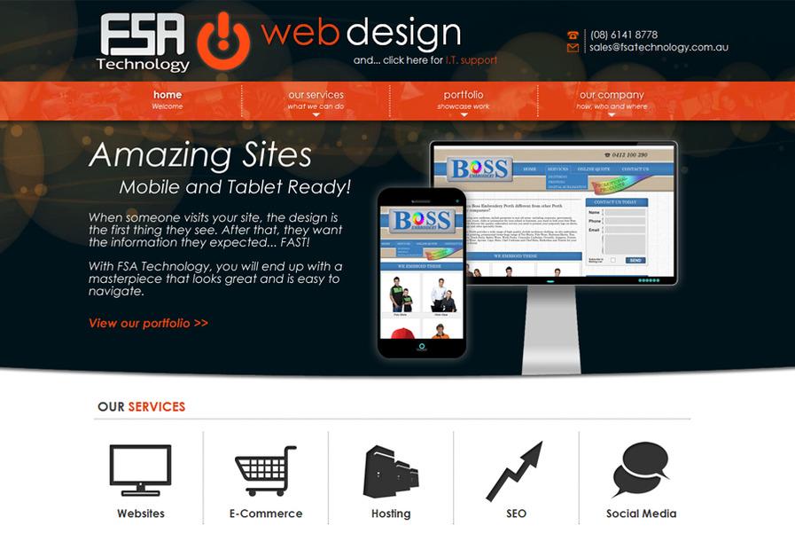 A great web design by FSA Technology, Perth, Australia:
