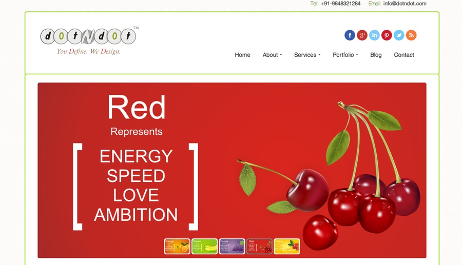 A great web design by Dotndot, Hyderabad, India: