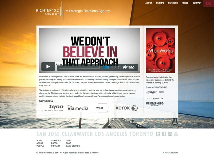 A great web design by Studio98, Tampa, FL: