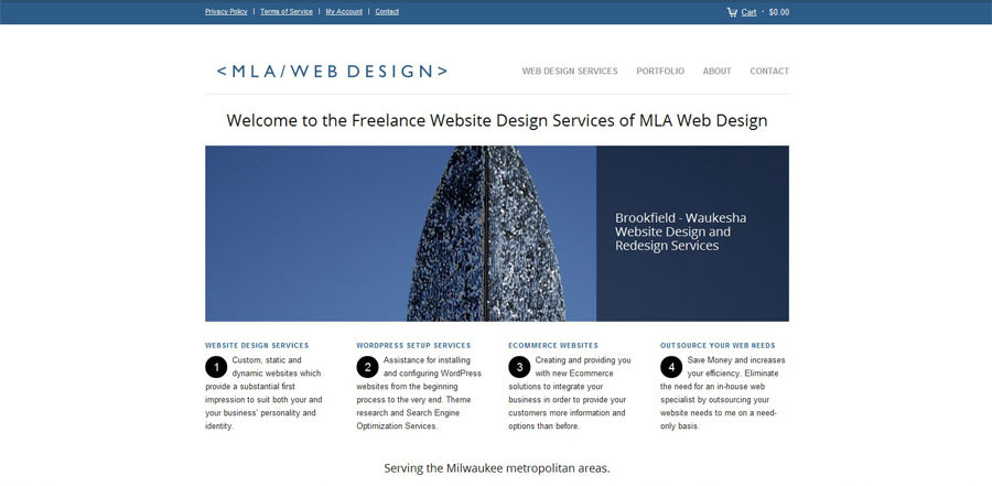 A great web design by MLA Web Design, Waukesha, WI: